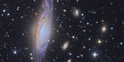 Image of the galaxy NGC7331 observed with J-PLUS. Credit: CEFCA